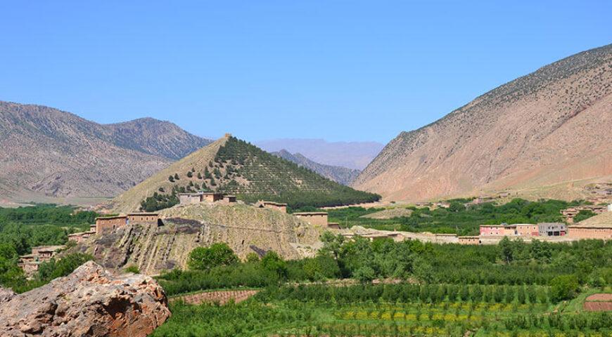 durch die Plantagen zur Speicherburg Sidi Moussa