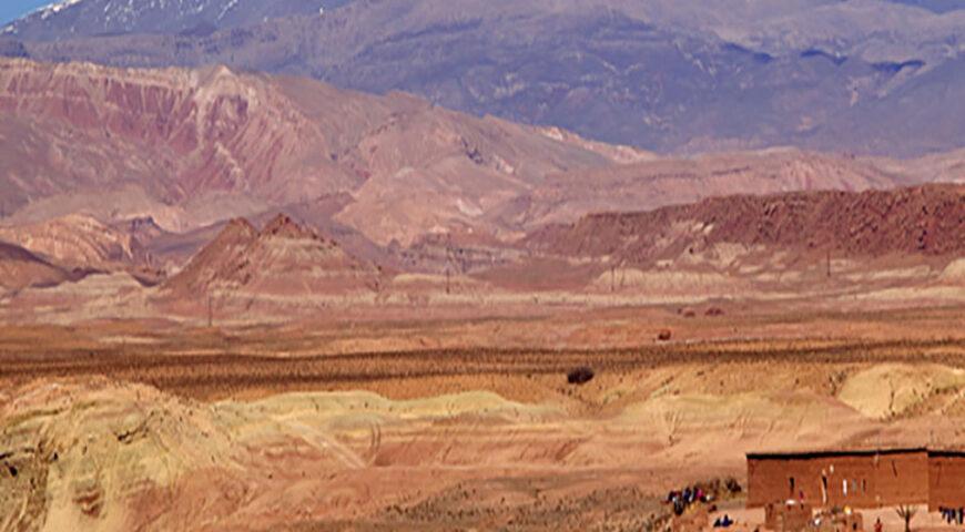 Blick von Ouarzazate zum Hohen Atlas