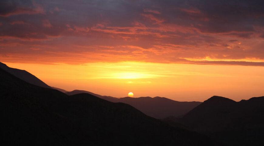Sonnenuntergang über dem Hohen Atlas