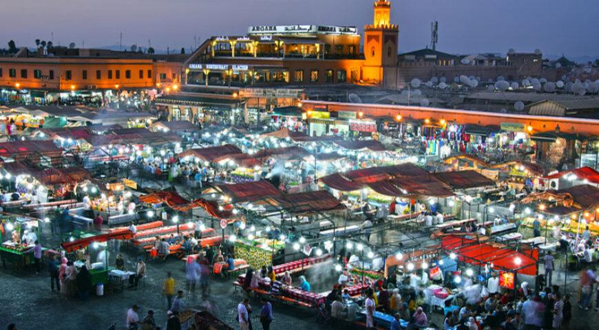 Platz Djemaa el Fna in Marrakech