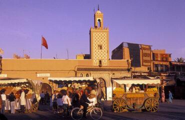 auf dem Djemaa el Fna in Marrakech