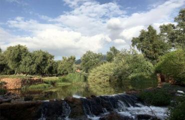 Flussbecken unterhalb der Wasserfaelle von Ouzoud