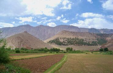Pfad durch Felder bei Timit nahe Tabant