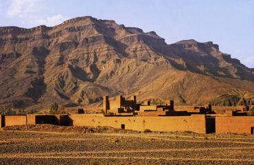Lehmwohnbauten im Draatal nahe Agdz
