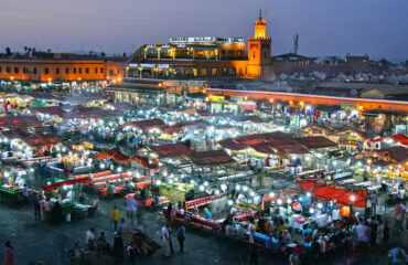 Platz Djemaa-el-Fna in Marrakech